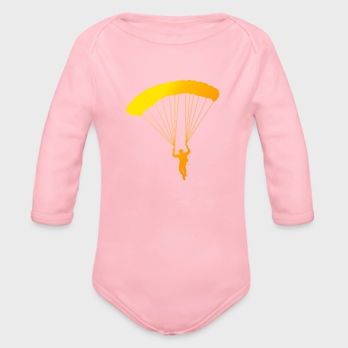 Colorfull Skydiver - Baby Bio-Langarm-Body