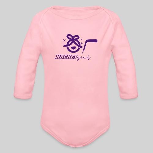 Hockey Girl II - Baby Bio-Langarm-Body