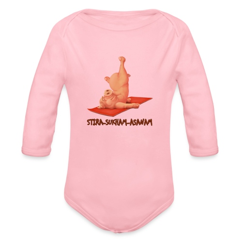 Schweindi-Stira-Sukham - Baby Bio-Langarm-Body