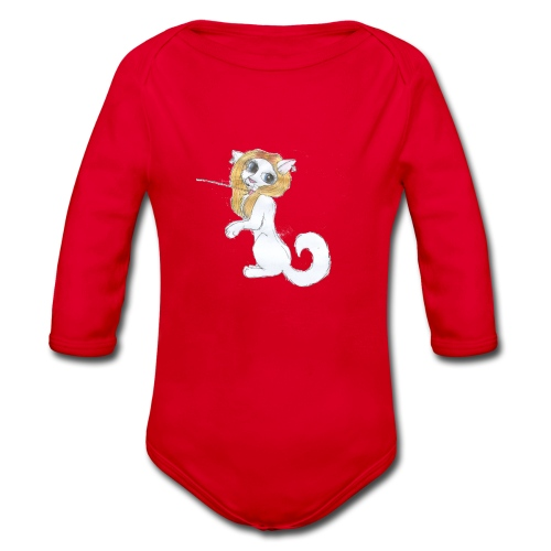 Comic Katze - Baby Bio-Langarm-Body
