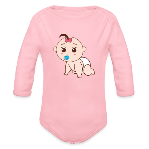 Liegendes Baby - Baby Bio-Langarm-Body