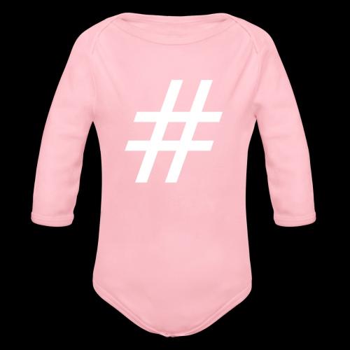 Hashtag Team - Baby Bio-Langarm-Body