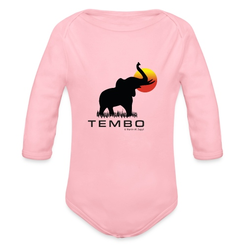 elephant - Tembo - Baby Bio-Langarm-Body