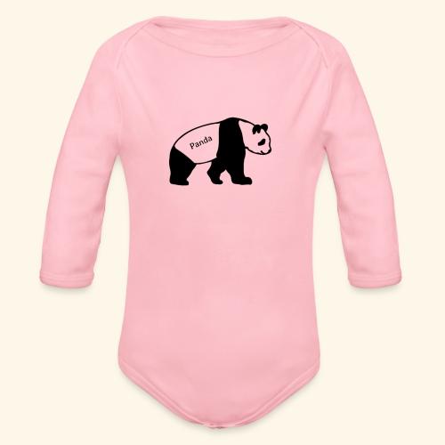 Panda - Baby Bio-Langarm-Body
