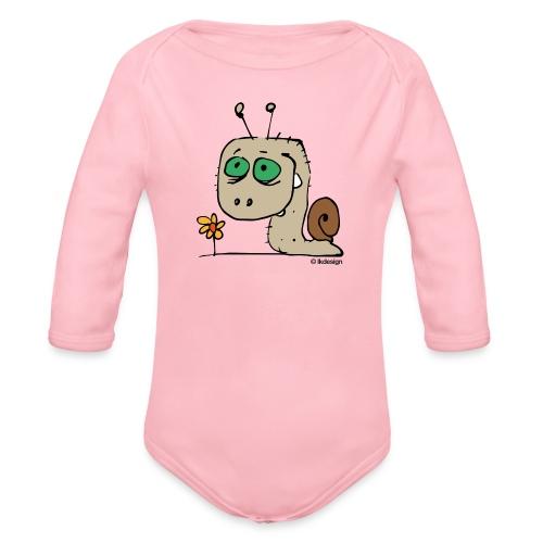 Schnecky - Baby Bio-Langarm-Body