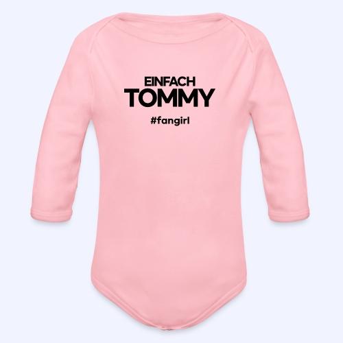 Einfach Tommy / #fangirl / Black Font - Baby Bio-Langarm-Body