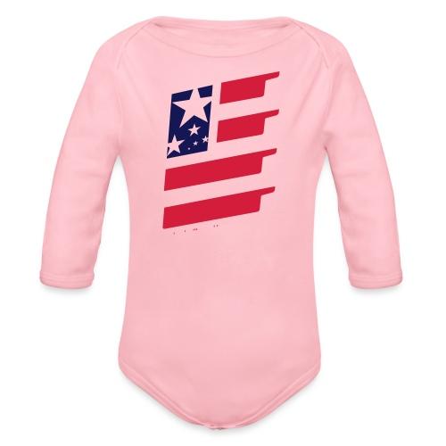 FlagUSA-URBAN - Body orgánico de manga larga para bebé