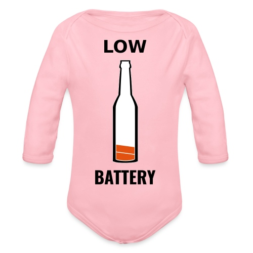 Beer Low Battery - Body Bébé bio manches longues