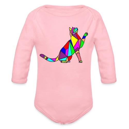composizione di arte animale animale domestico colori gatto - Body ecologico per neonato a manica lunga