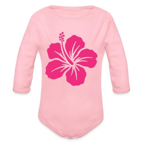 Camisetas, blusas, forros celulares de flor rosada - Body orgánico de manga larga para bebé