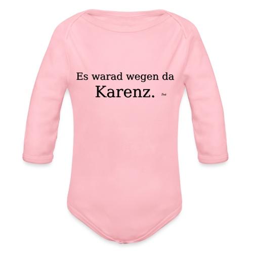 Karenz - Baby Bio-Langarm-Body