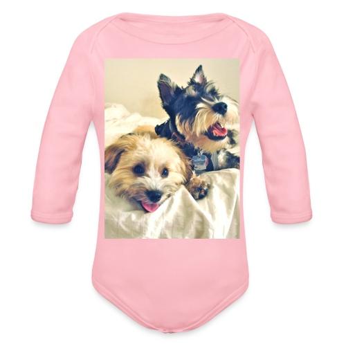 happy dogs - Baby bio-rompertje met lange mouwen