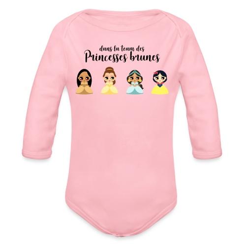 Team princesses brunes - Body Bébé bio manches longues