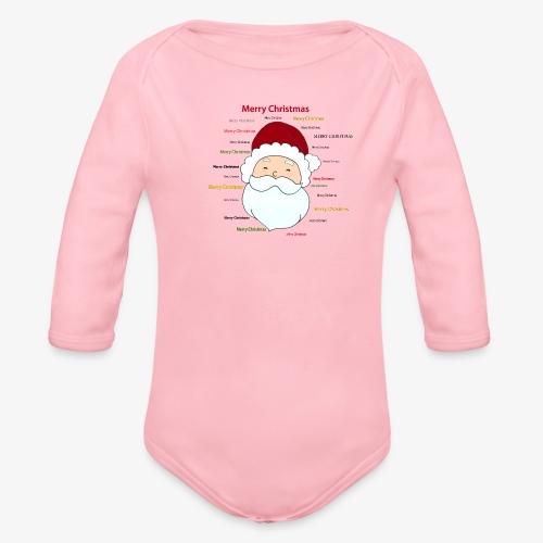pere noel Merry x mas - Organic Longsleeve Baby Bodysuit