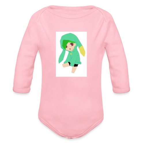 Green haired SkaiLaPie pillow - Organic Longsleeve Baby Bodysuit