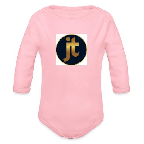 Golden jt logo - Organic Longsleeve Baby Bodysuit