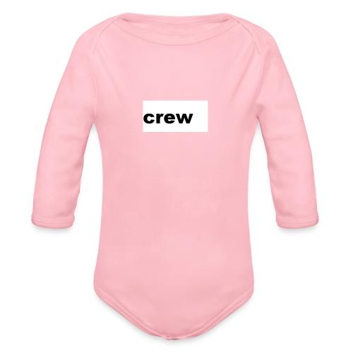 crew kleding - Baby bio-rompertje met lange mouwen