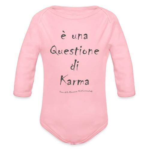 questione di Karma - Body ecologico per neonato a manica lunga