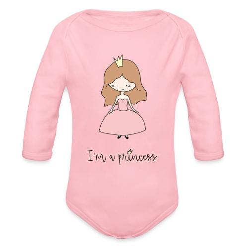 I'm a Princess - Body ecologico per neonato a manica lunga