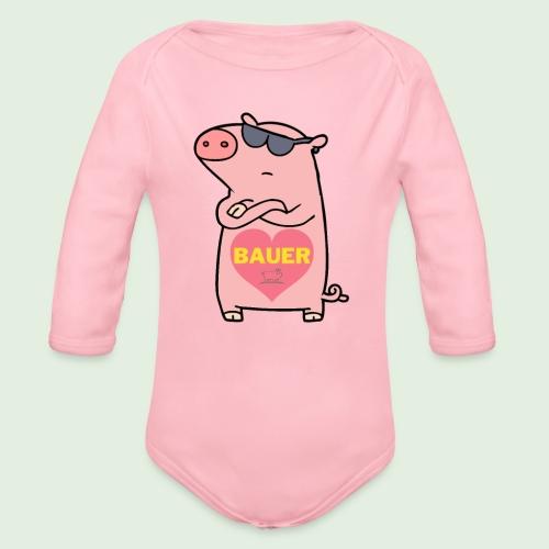 Ich liebe Bauer - Baby Bio-Langarm-Body