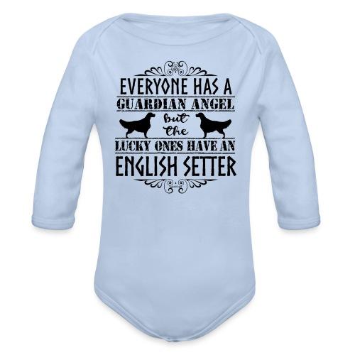 English Setter Angels II - Vauvan pitkähihainen luomu-body