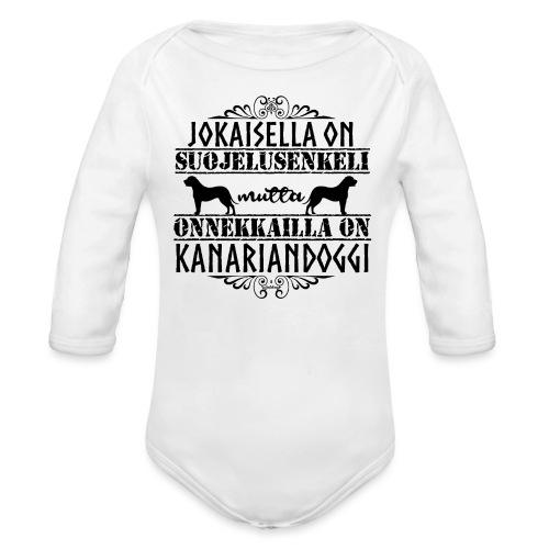 Kanariandoggi Enkeli II - Vauvan pitkähihainen luomu-body