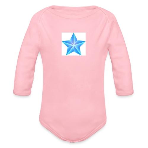 blue themed christmas star 0515 1012 0322 4634 SMU - Organic Longsleeve Baby Bodysuit