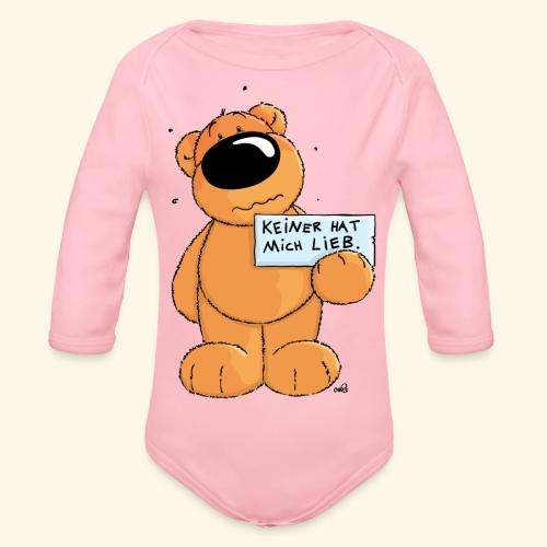chris bears Keiner hat mich lieb - Baby Bio-Langarm-Body