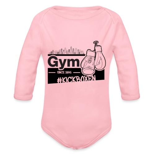 Gym in Druckfarbe schwarz - Baby Bio-Langarm-Body