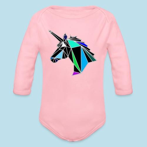 unicorno - Body ecologico per neonato a manica lunga