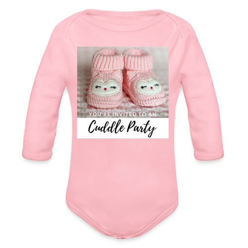 INVITED - CUDDLE PARTY rosa - Baby Bio-Langarm-Body