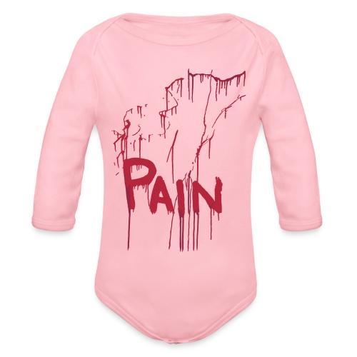 Pain - Organic Longsleeve Baby Bodysuit