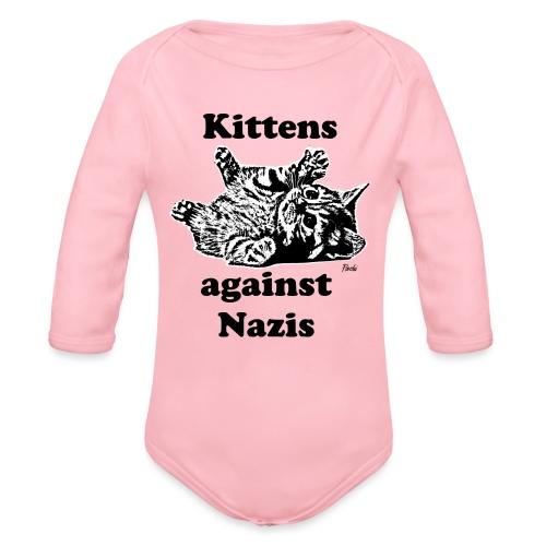 kittensagainstnazis - Baby Bio-Langarm-Body