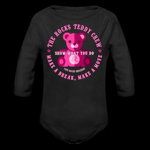 Rocks Teddy Crew - Pink - Baby bio-rompertje met lange mouwen