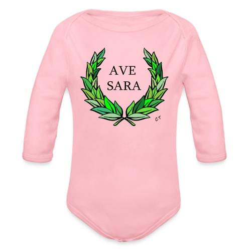AVE SARA nome nascita modificabile a richiesta - Body ecologico per neonato a manica lunga