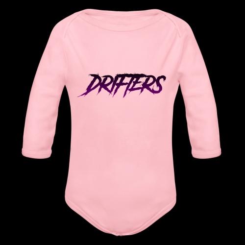 Drifters purple basic logo - Body ecologico per neonato a manica lunga