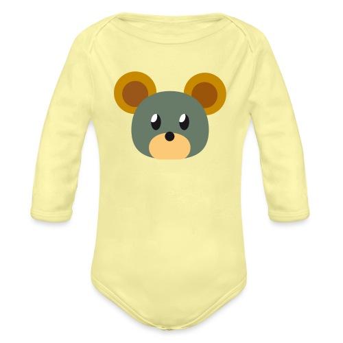 Maus »Pieps« - Organic Longsleeve Baby Bodysuit