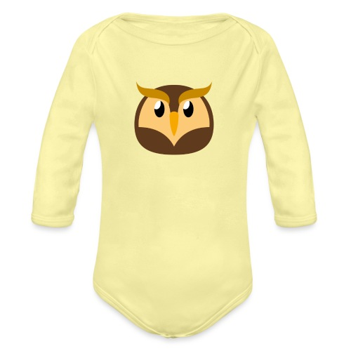 Eule »Schuhu« - Organic Longsleeve Baby Bodysuit
