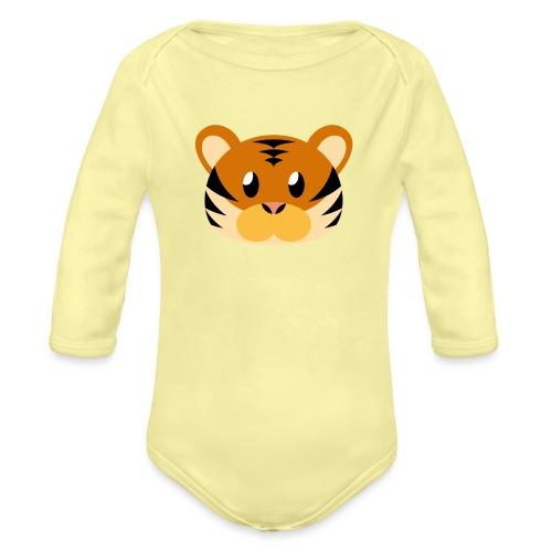 Tiger »Tom« - Organic Longsleeve Baby Bodysuit