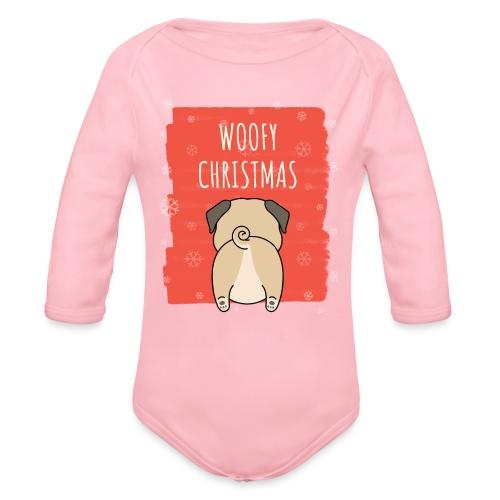 Grappige Kerstmis hond Woofy Christmas origineel - Baby bio-rompertje met lange mouwen