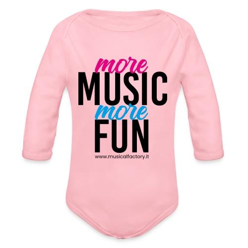 More Music More Fun - Body ecologico per neonato a manica lunga