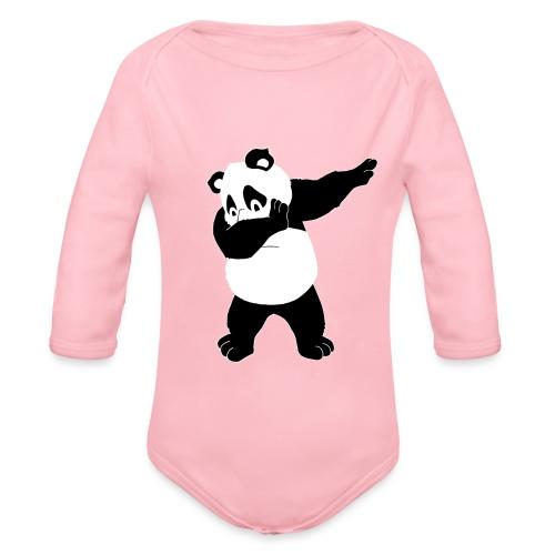Dabbing Panda Bär - Baby Bio-Langarm-Body