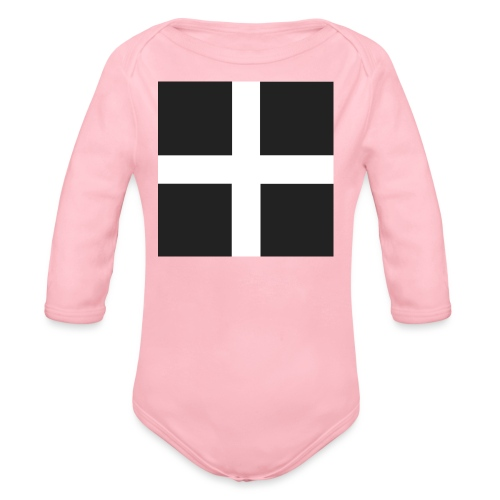 I m Cornish and Proud - Organic Longsleeve Baby Bodysuit