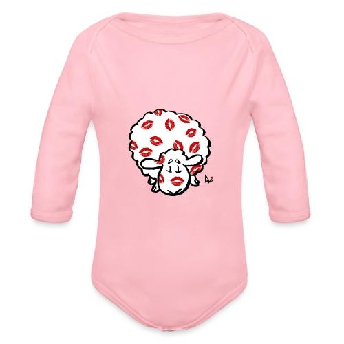 Kiss Ewe - Langærmet babybody, økologisk bomuld