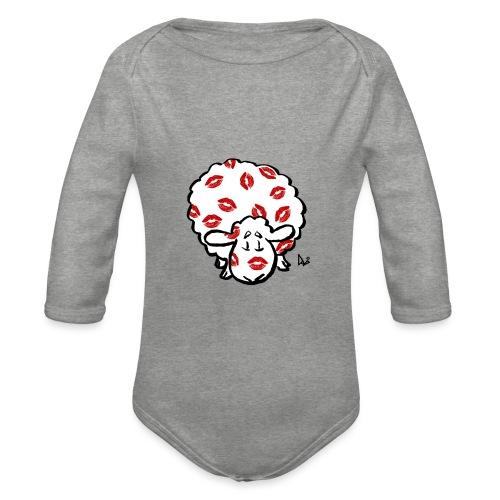 Kuss Mutterschaf - Baby Bio-Langarm-Body