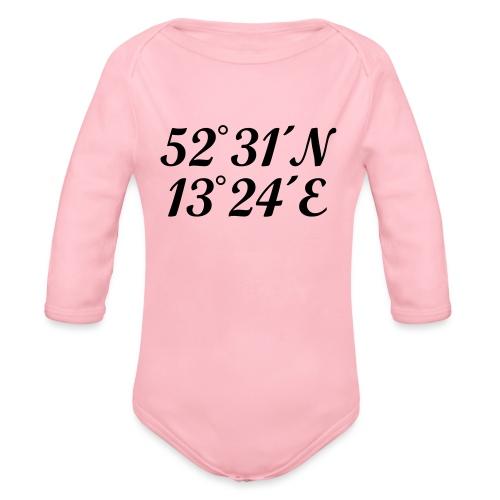 Berlin Koordinaten - Baby Bio-Langarm-Body