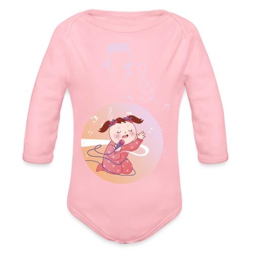 Witzige süße Umstandsmode T-Shirt mit Motiv - Baby Bio-Langarm-Body