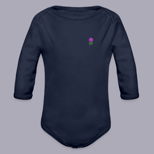 Landryn Design - Pink rose - Organic Longsleeve Baby Bodysuit