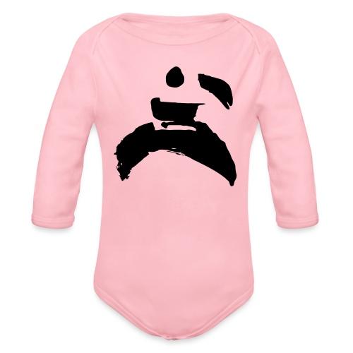 kung fu - Organic Longsleeve Baby Bodysuit