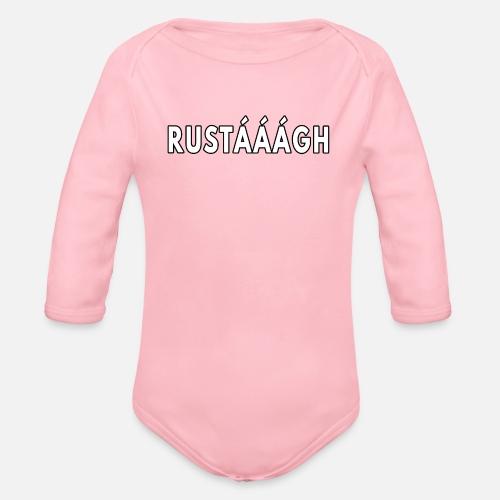 Rustaaagh Blijven! - Baby bio-rompertje met lange mouwen
